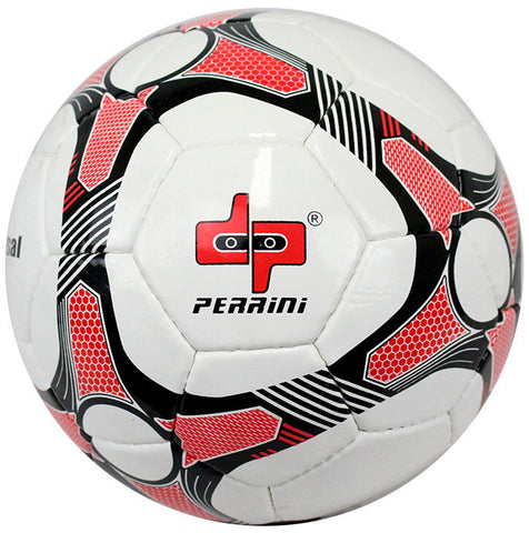 Perrini Black/Red/White Soccer Ball Size 5