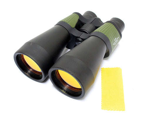 40x60 Green Perrini Powered Outdoor Ultra Compact Binoculars with Pouch