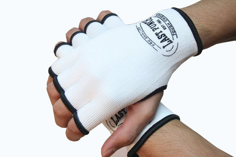 MMA White Hand Wrap Training Gloves