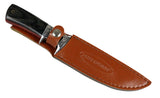 "10"" Hunt-Down Fixed Blade Hunting Sharp Knife with Leather Sheath"