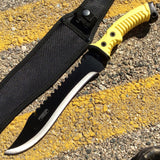 "16"" Defender Xtreme Full Tang Hunting Combat Knife Rubber Handle in Mixed Colors"