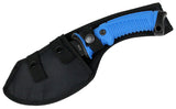 "Hunt-Down TacticalHunting Survival 10.5"" Axe Blue Rubber Handle"