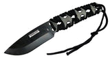 "Defender-Xtreme 10"" Black Full Tang Survival Knife with Sheath"
