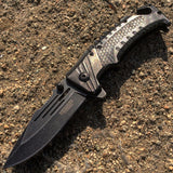 "8"" Defender Xtreme Folding Tactical Knifes with Seat Belt Cutter in Mixed Colors"