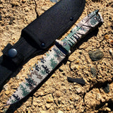 "11"" Defender-Xtreme Full Tang Hunting Sharp Knife Gray Digital Camo"