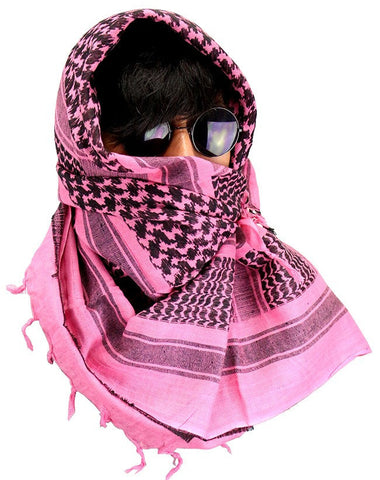 Military Lightweight Shemagh Tactical Scarf Pink