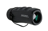 10X25 Perrini Black High Powered Ultra Compact Sharp View Monocular with Sheath