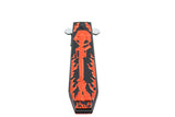"9.5"" Hunt Down Coffin Handle with USA/Orange M16 Design Spring Assisted Knife"