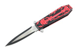 "9.5"" Hunt Down Coffin Handle with USA/Red M16 Design Spring Assisted Knife"