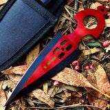 Zomb War Throwing Knife Red With Sheath