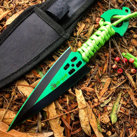 Zomb War Throwing Knife Green With Sheath