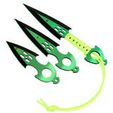 Zomb War 3 Pc Throwing Knife set Blue With Sheath