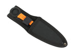 Zomb War Throwing Knife Black color With Sheath and Orange cord