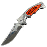 "TheBoneEdge 8.5"" Tactical Rescue Folding Knifes Ridged Top Edge in Mixed Colors"