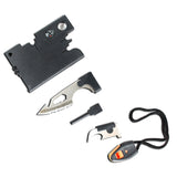 Defender Multi Function Credit Card Pocket Survival 10 in 1 Tool Kit Pocket Tools Pouch