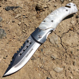 "Hunt-Down 8"" Folding Tactical Rescue Pocket Knife Steel Sharp Blade Mixed Colors"