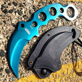 "Defender-Xtreme 7.5"" Tactical Combat Knife Full Tang With Sheath Mixed Color New"