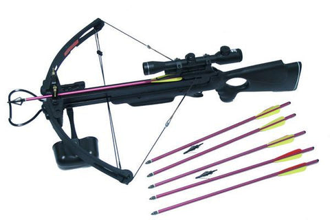 MK250A1 Hunting Crossbow 4x32 Scope Package with Arrows