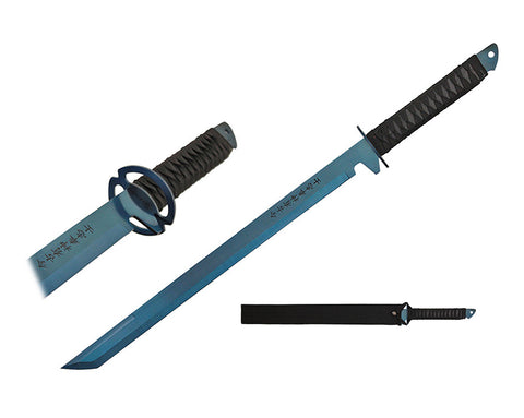 "High Quality 27""  Stainless Steel Blue Blade Sword with Sheath"