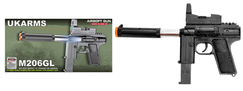 SM206GL Plastic Spring Airsoft Pistol w/ Laser and Flashlight