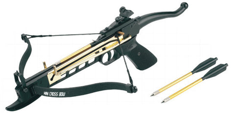 80 Lbs Metal Crossbow Self-Cocking with 15 arrows
