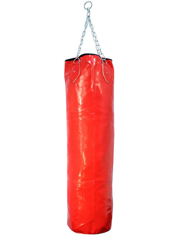 Red Punching Bag With Chains Brand New Boxing Heavy Duty