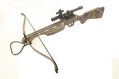 150 Lbs Hunting Camo Crossbow Plus Scope Laser and 8 Arrows