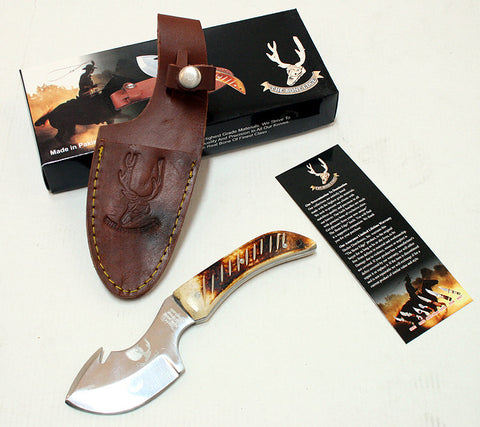 "7.5"" Skinner Knife Bone Handle Series Sharp Hunting Knife"