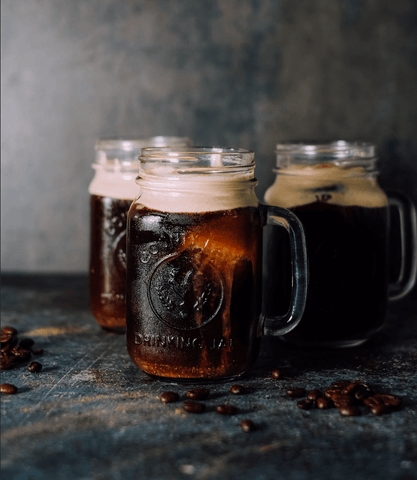 Cold foam cold brew drinks