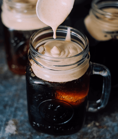 making a cold foam for your coffee or cold brew