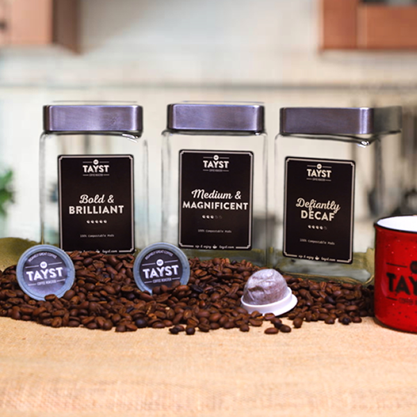 Tayst Coffee Jar - Square