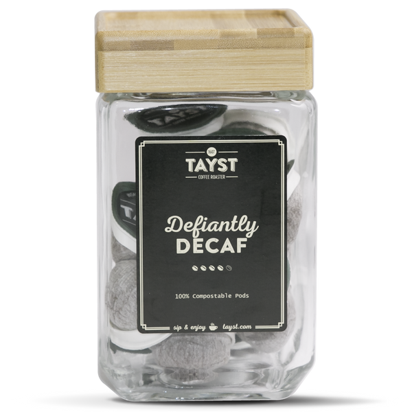 Decaf Coffee Jar - Bamboo