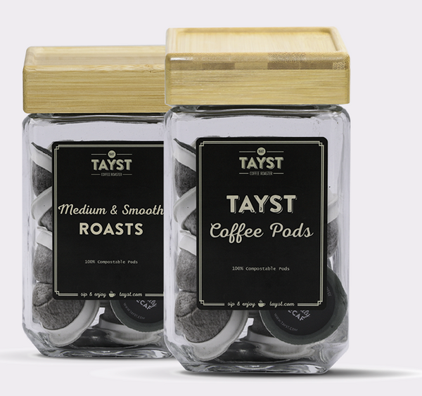 Tayst Coffee Jar - Bamboo