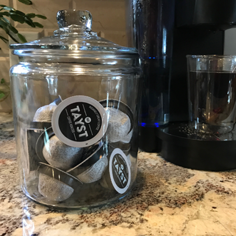 Tayst Coffee Jar - 1/2 gal Round