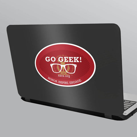 Go Geek Laptop Sticker
