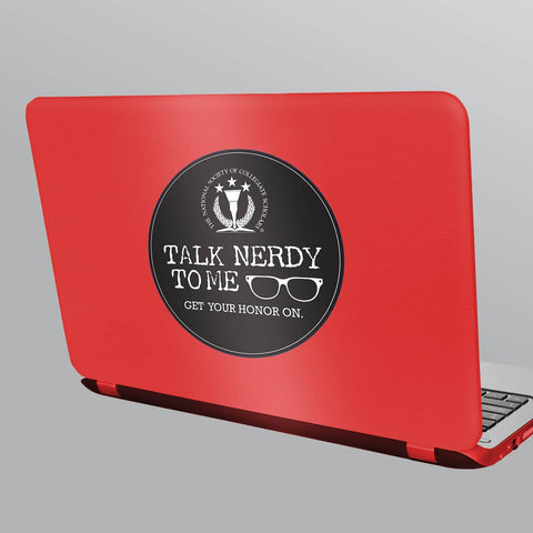 Talk Nerdy to Me Laptop Sticker