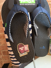 yoga sling flip flops in navy
