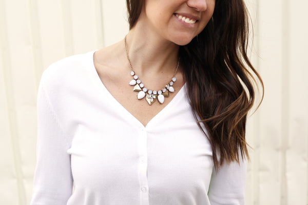 close-up statement necklace
