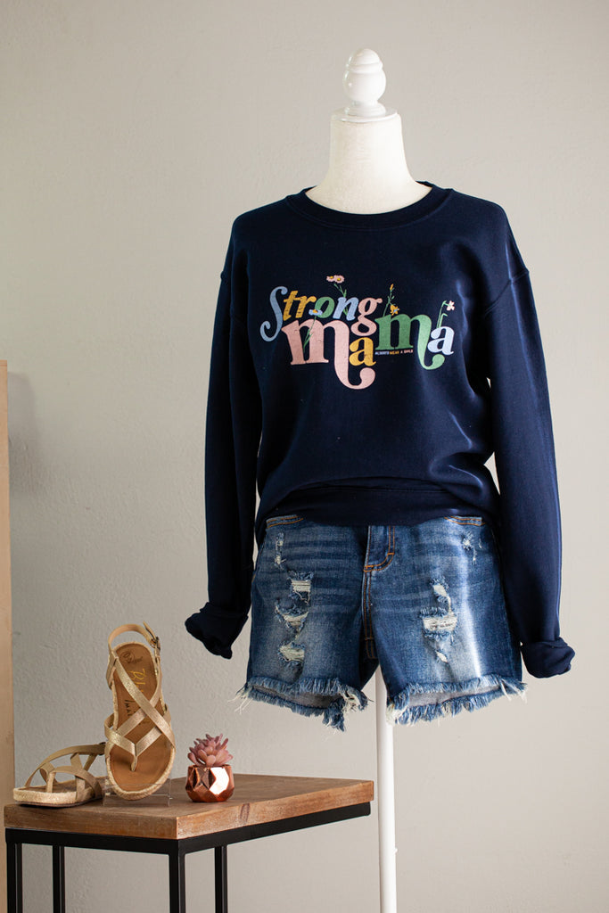 Strong Mama Graphic Sweatshirt