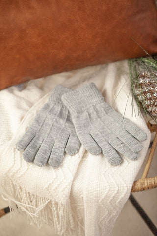 Solid Knit Touchscreen Gloves