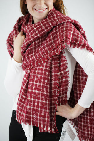 Tattersall Plaid Blanket Scarf