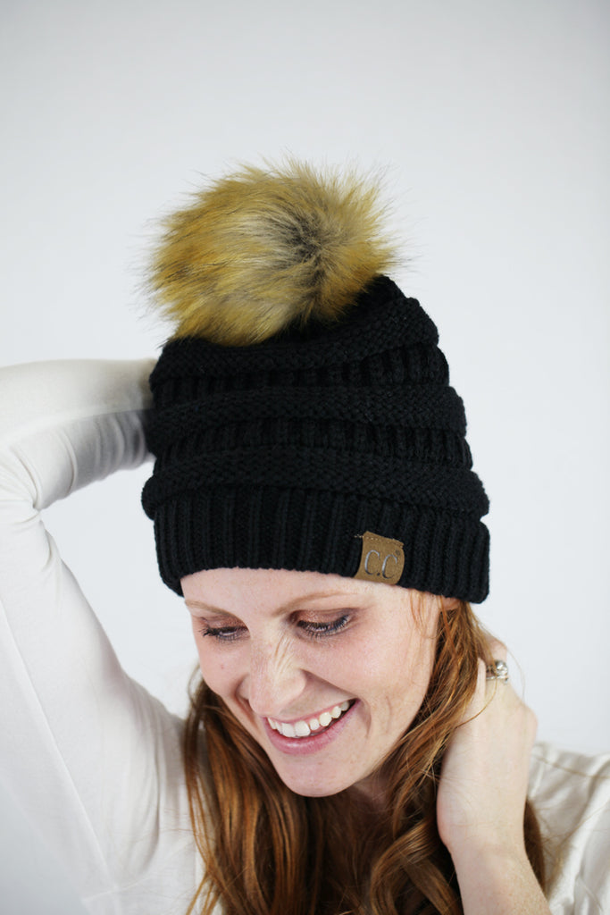 C.C. Hat with Pom