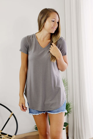 Relaxed Fit Tee - V Neck