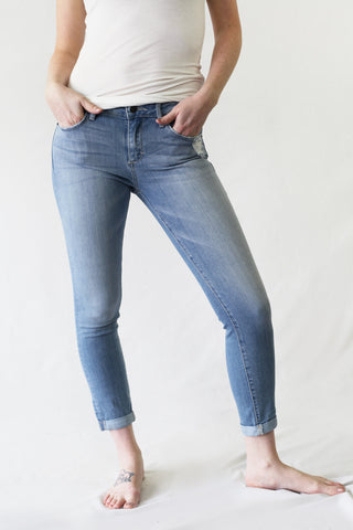 Rolled Cuff Cropped Jean