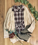 Dolman Cardigan with Long Sleeves