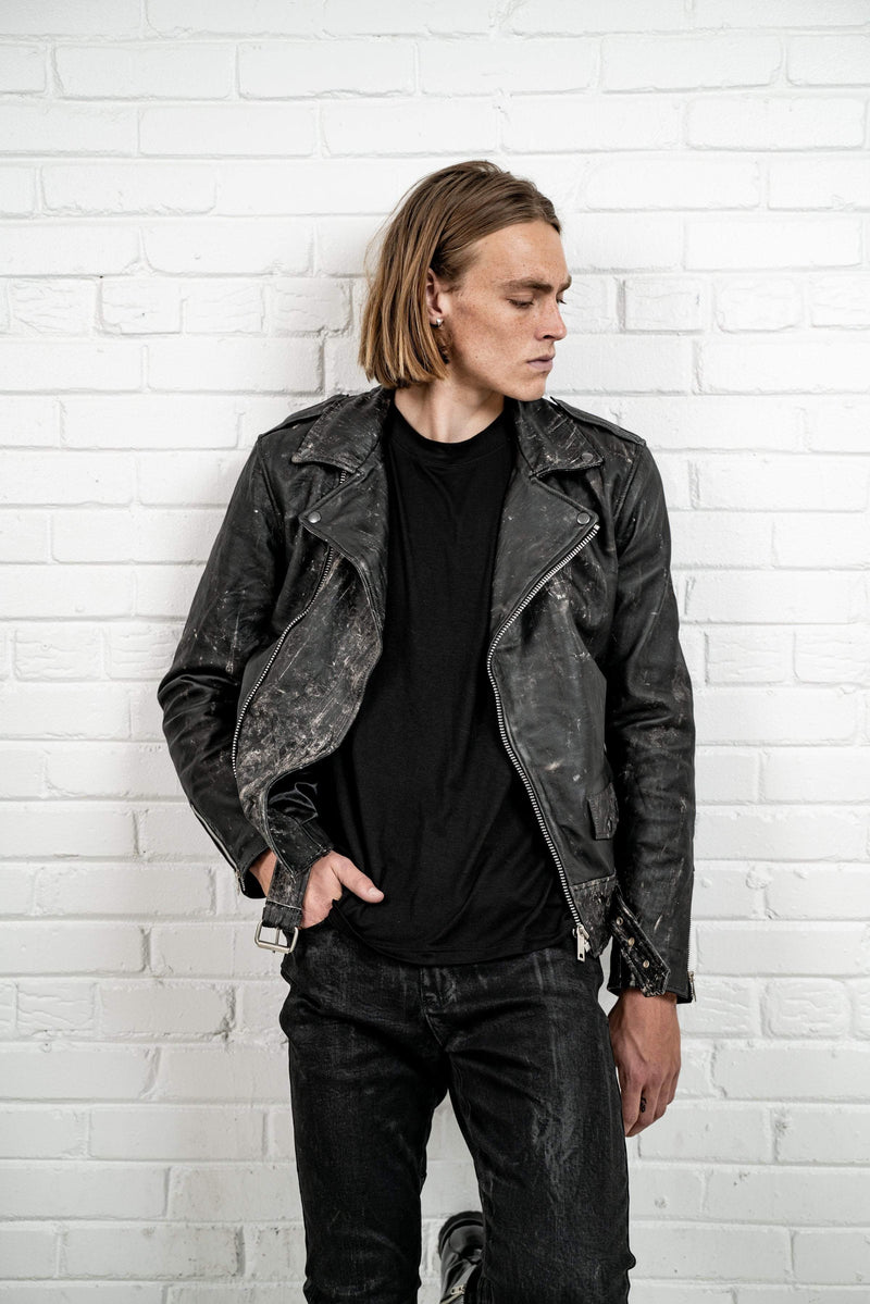 Kollar Clothing Road Rash Biker Jacket - Black