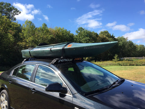 Penguin Feet Soft Car Roof Rack for Kayaks and Canoes