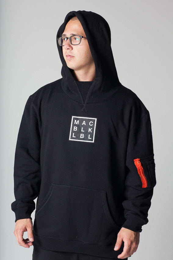 Custom MAC BLK Hooded Pullover- BLACK