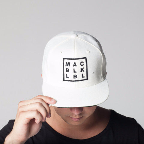 MAC BLK White Snap Back Hat