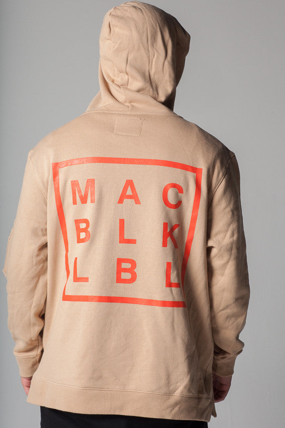 Custom MAC BLK Hooded Pullover - KHAKI